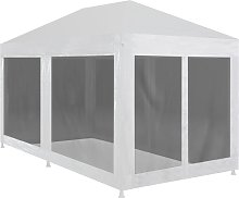 Party Tent with 6 Mesh Sidewalls 6x3 m - Black