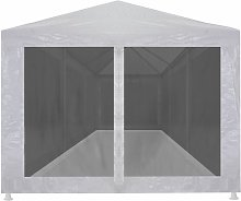 Party Tent with 8 Mesh Sidewalls 9x3 m QAH29263 -