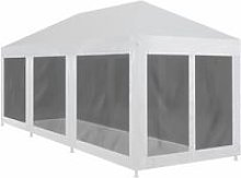 Party Tent with 8 Mesh Sidewalls 9x3 m VDTD29263 -