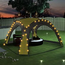 Party Tent with LED and 4 Sidewalls 3.6x3.6x2.3 m