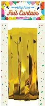 Party Time Foil Door Curtain (One Size) (Gold) -