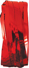 Party Time Foil Door Curtain (One Size) (Red) -