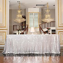PartyDelight Sequin Tablecloth, Rectangular Square