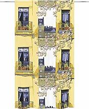Parvekkeella Curtain 140 x 250 cm Yellow