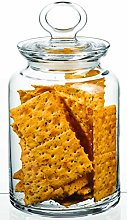 Pasabahce Clear Glass Food Storage Jar with Clear
