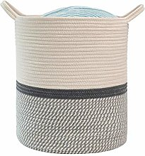 PASLWSSY Cotton Rope Basket with Handles