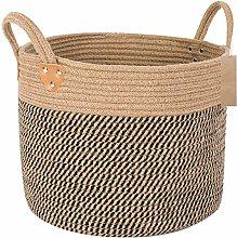 PASLWSSY Large Jute Basket Woven Storage Basket