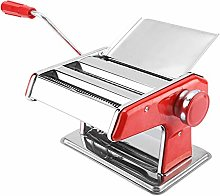 Pasta Machine, Sliver, Red Stainless Steel Roller