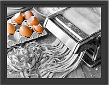 Pasta Maker with Eggs Framed Graphic Art Print
