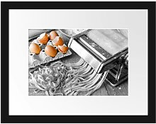 Pasta Maker with Eggs Framed Photographic Art