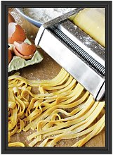 Pasta Maker with Italian Pasta Framed Photographic