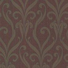 Paste The Wall - Burgundy Purple & Metallic Gold
