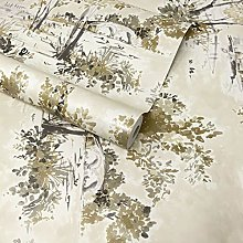 Paste The Wall - Cream, Silver and Gold Toile