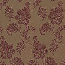 Paste The Wall - Luxury Gold & Red Floral Jacobean
