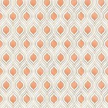 Paste The Wall - Modern Cream and Orange Geometric