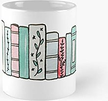Pastel Books Classic Mug Best Gift Funny Coffee