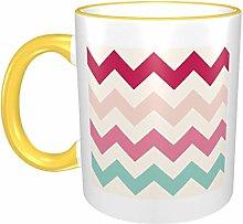 Pastel Chevron Zigzag Stripes Zig Zag Pattern Mugs