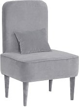 Pastel Cocktail Chair Happy Barok Upholstery: Grey