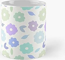 Pastel Flower Pattern Classic Mug Best Gift Funny