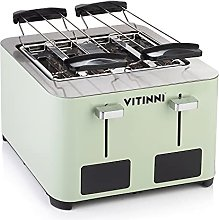 Pastel Green Four Slice Toaster Extra Wide Slots