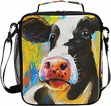 Pastel Painting Cow Dairy Cattle Animal Lunch Bag