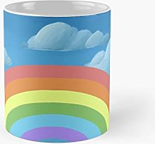 Pastel Rainbow Coffee Mug Classic Best Gift Funny
