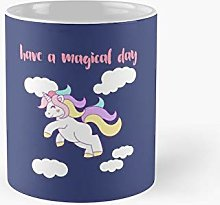 Pastel Unicorn Have A Magical Day Classic Mug Best