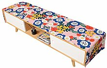 Pastoral Vitality Watercolor Flower Printing Table