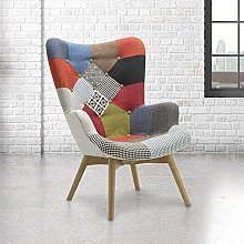 Patchwork Armchair, Happy Beds Sloane Fabric