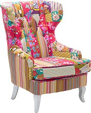 Patchwork Fabric Armchair Multicolour MOLDE