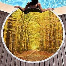 Pathway Printed Round Beach Towel Yoga Picnic Mat