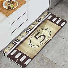 PATINISA Kitchen Rug Doormat,Retro Scratched Movie
