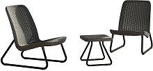 Patio Furniture Set 3 Pieces Rio Graphite - Keter