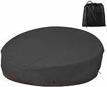Patio Rattan Daybed Cover Round Waterproof