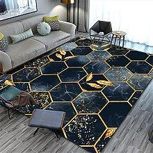Patio Rug Pastel Rug Dark Blue Geometric Carpet