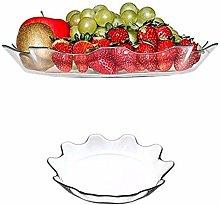 Patisserie Round Fancy Glass Fruit Salad Bowl Food