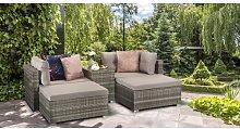 Paton 4 Seater Rattan Effect Sofa Set Zipcode