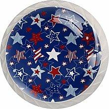 Patriotic Stars and Stripes Drawer Knobs Pulls