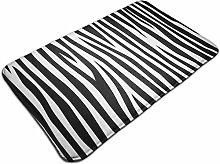 Pattern Of Zebra Skin Bath Mat Door Mats Rug