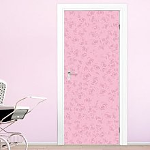 Pattern, Pink Door Sticker East Urban Home