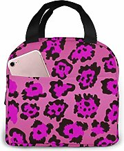 Pattern Purple Leopard Texture Insulated Lunch Bag