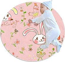 Pattern rabbit, Round Area Rug Pattern Round