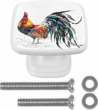 Pattern with Farm Rooster Drawer Knob for Home