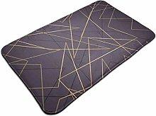 Pattern With Geometric Broken Line Bath Mat