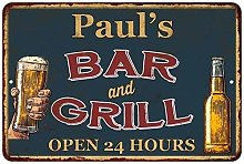 Paul'S Green Bar And Grill Personalized Metal