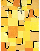 Paul Klee Signs In Yellow Cropped Art Print Canvas