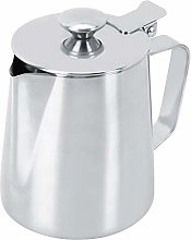 Paullice Milk Frother Cup 350ml Stainless Steel