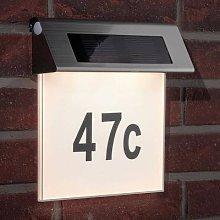 Paulmann Solar house number light with LED, IP44