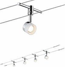 Paulmann Wire System, Metal, 5 W, White, Chrome