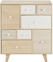 Paulownia 8-Drawer Cabinet